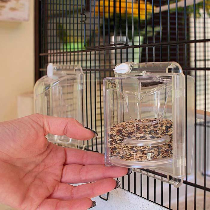 поворотные встроенные кормушки для птиц в клетке