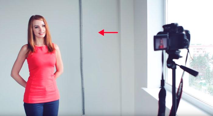 как правильно стоять при съемке видео со светом из окна