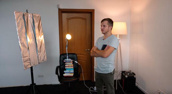 регулировка высоты дополнительного светильника