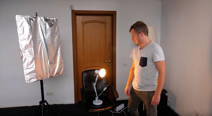 где размещать дополнительные источники освещения при съемке видеоблога на ютуб