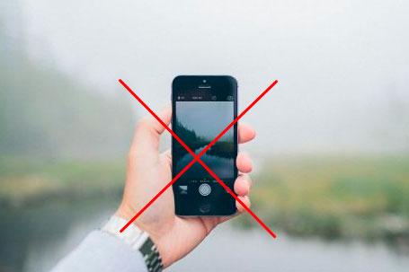как нельзя снимать с телефона видео