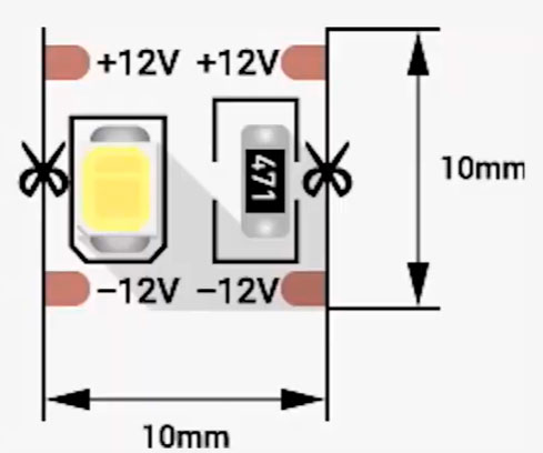 светодиодная лента с кратностью 1см