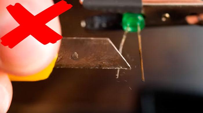 почему нельзя счищать окислы ножом