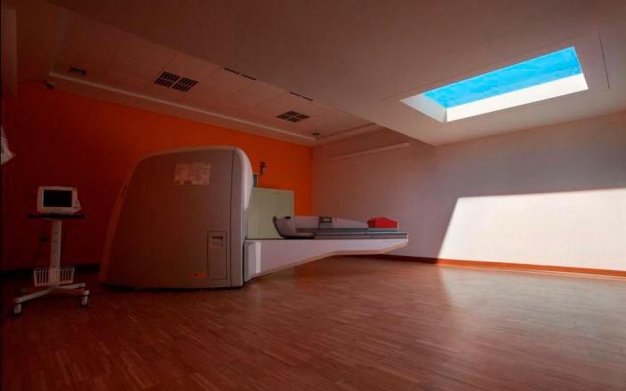светильники coelux в кабинетах лучевой терапии