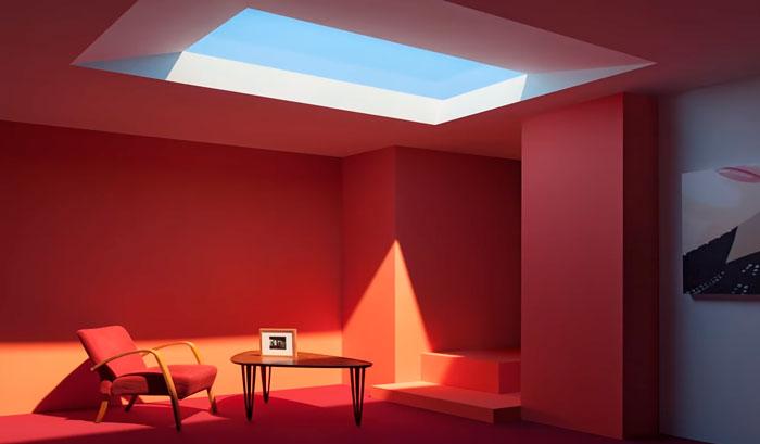 естественное освещение от светильника окна coelux