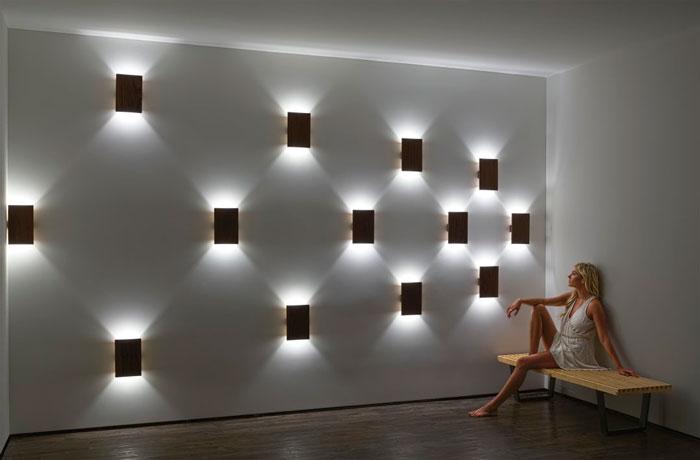 подсветка бра на стене