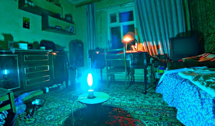облучение комнаты лампой дрл