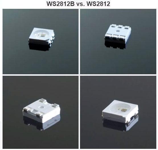 отличие чипа ws2812b и ws2812