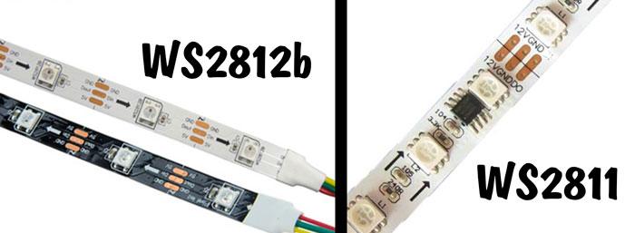 отличие лент ws2812 и ws2811