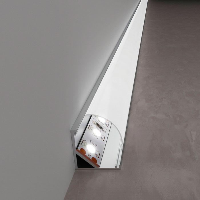 профиль светодиодной ленты в угол стены