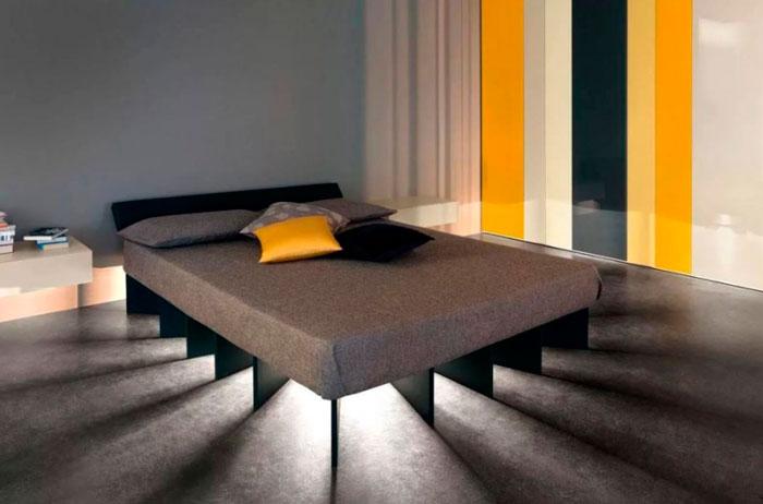 подсветка низа кровати светодиодной лентой