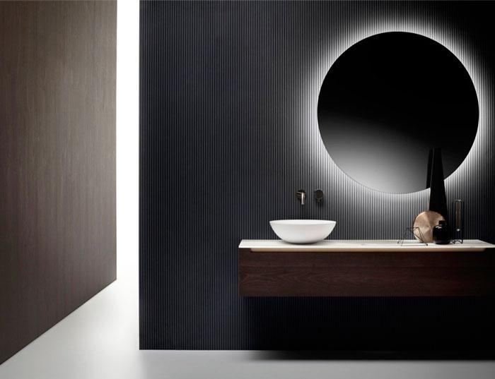 подсветка зеркала фоновая в ванной