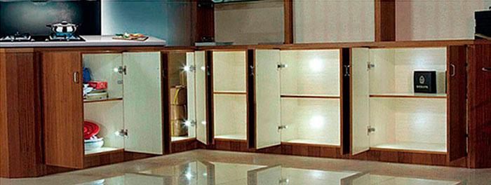 подсветка под раковиной на мебельных навесах
