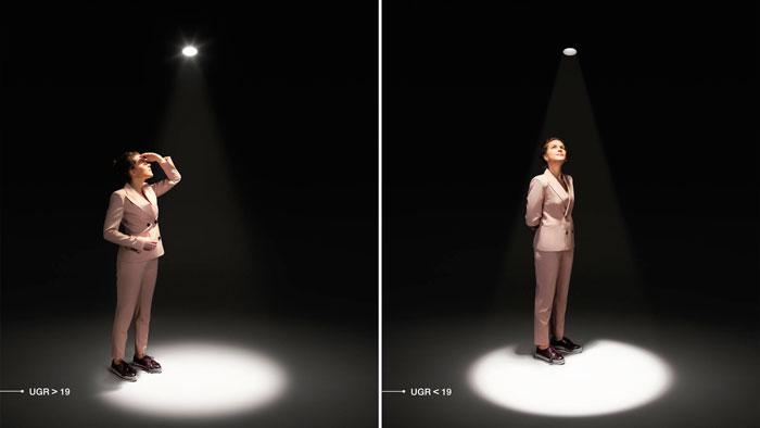 слепящий эффект от светильников