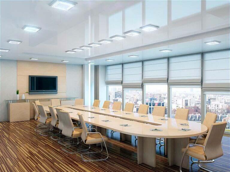 освещение в переговорной комнате