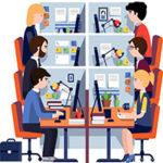 Освещение в офисе без глупых ошибок с соблюдением норм и требований.