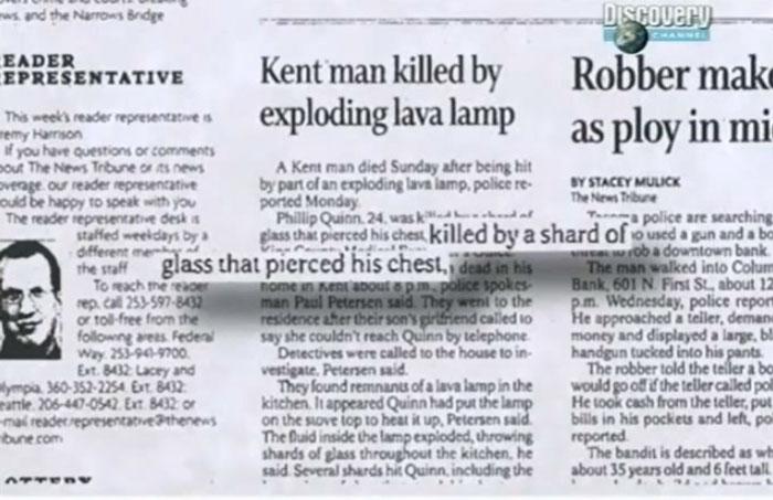 убило человека взрывом лава лампы