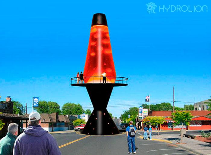 проект самой большой лава лампы в мире