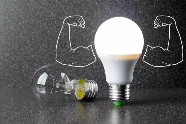 светодиодная или лампочка накаливания
