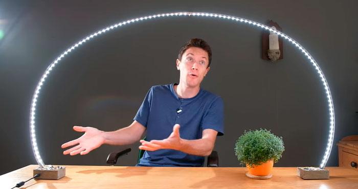крутой светильник из светодиодной ленты своими руками