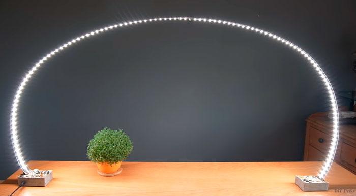 светильник на рабочий стол своими руками