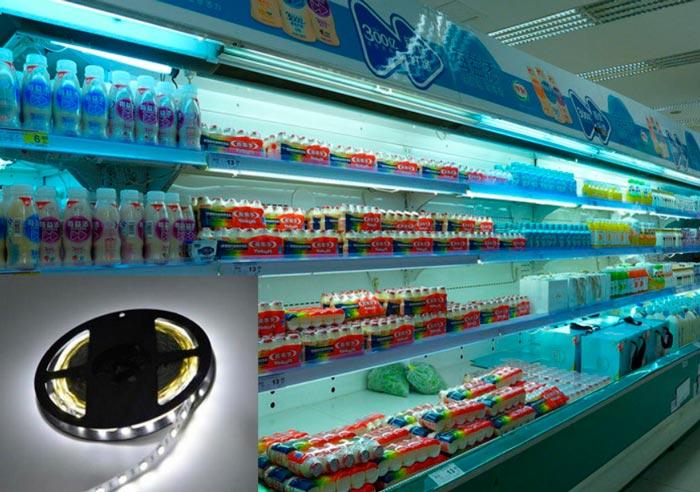 светодиодная лента для подсветки молочных изделий