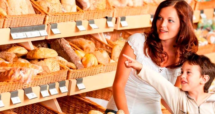 освещение хлебобулочных изделий в магазине
