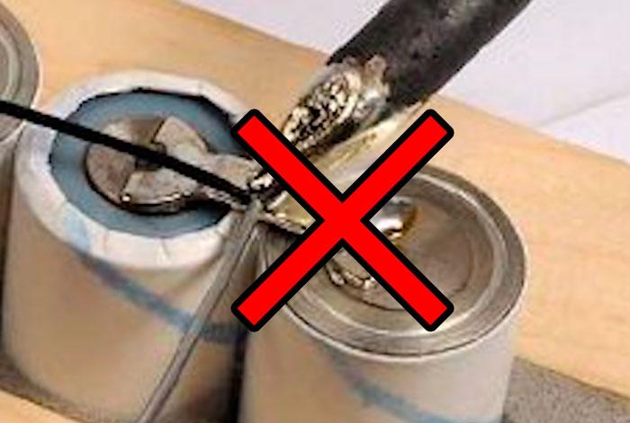 аккумуляторы 18650 нельзя соединять пайкой почему