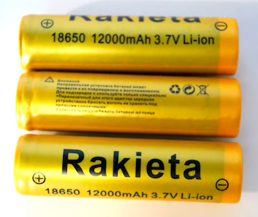 подделка батареек Rakieta и Ultrafire