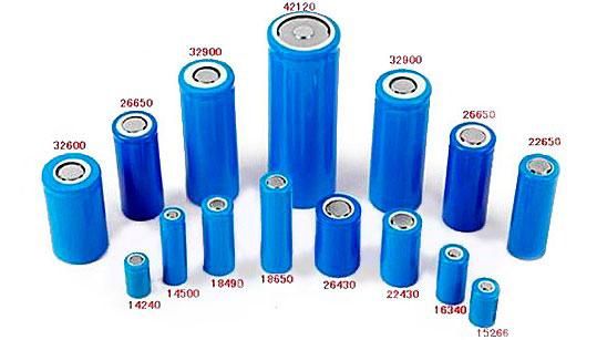 разные габариты литий ионных батареек
