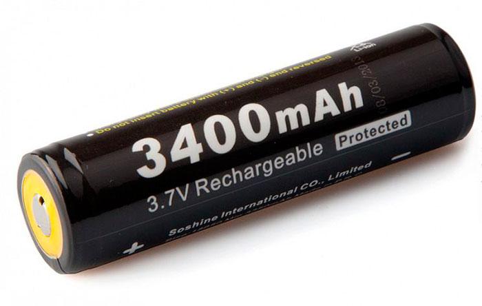 отличие защищенной батарейки 18650 надпись Protected