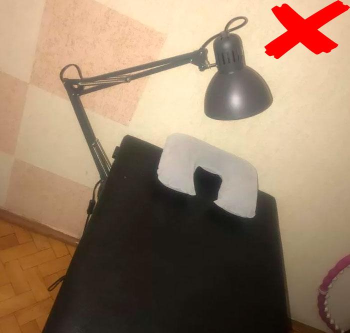 неправильная лампа для наращивания ресниц