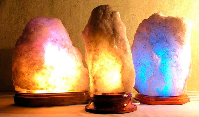 цвет свечения солевой лампы