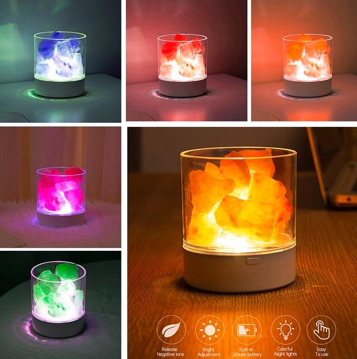 цвет свечения соляной лампы