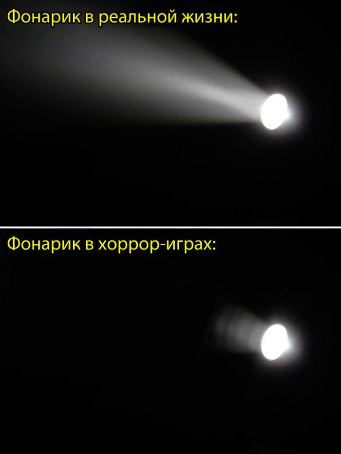 проверка батарейки фонариком