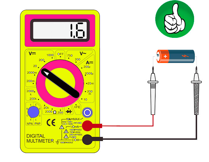как измерить напряжение на батарейке и проверить ее заряд