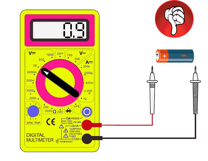 как проверить батарейку мультиметром заряд и напряжение