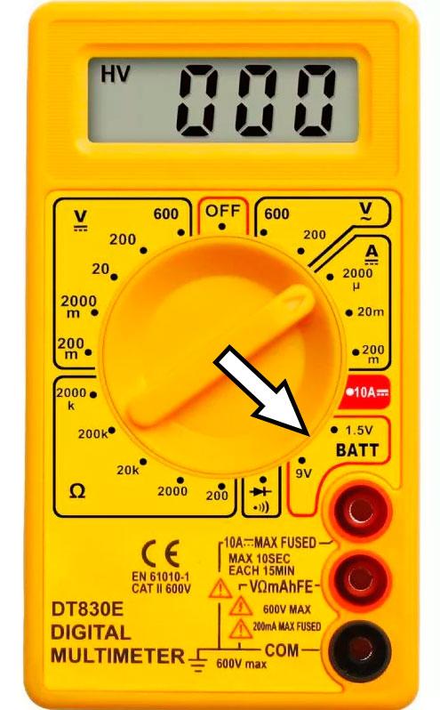 проверка батареек мультиметром под нагрузкой