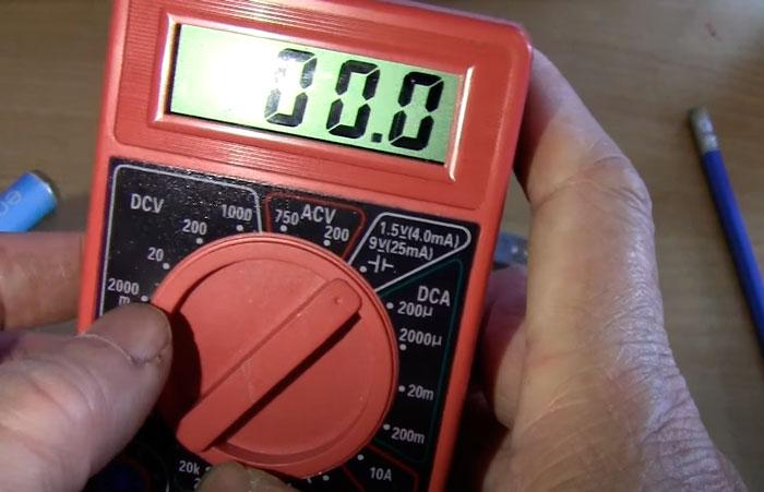 сколько ампер будет у батарейки при проверке под нагрузкой