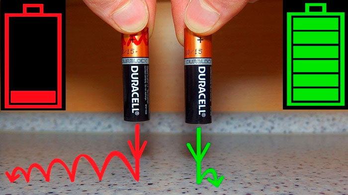 батарейки тест на прыгучесть