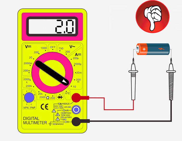 проверка батарейки мультиметром по току на работоспособность и заряд