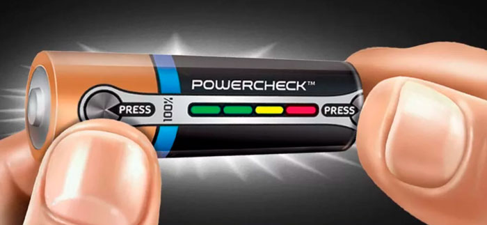 батарейка с полоской уровня разряда