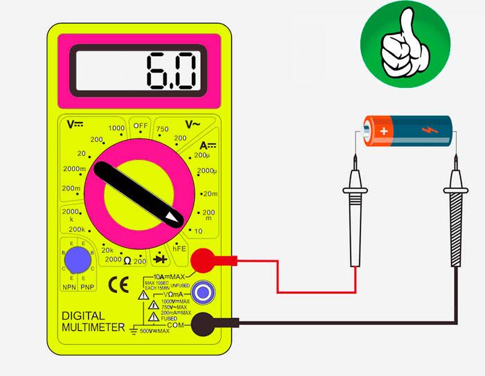 как проверить батарейку мультиметром по току на работоспособность