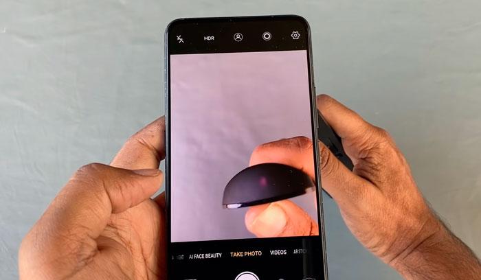 проверка пульта дистанционного управления на камеру смартфона