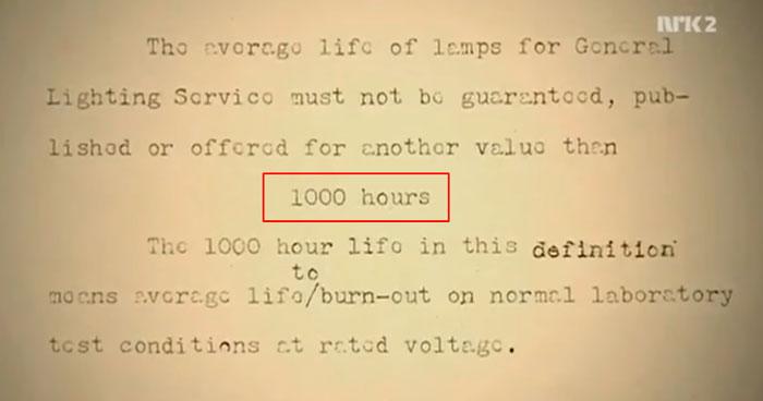 откуда взялся срок службы ламп накаливания в 1000 часов