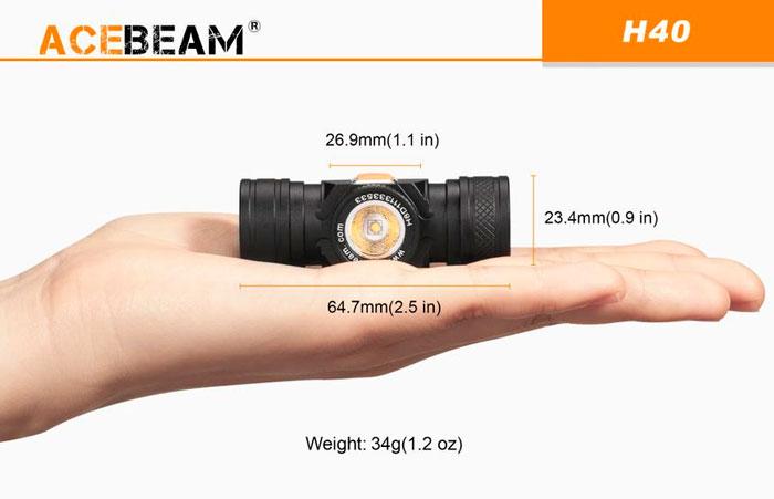 миниатюрны фонарь Acebeam h40