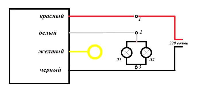 подключение сенсорного переключателя к лампе