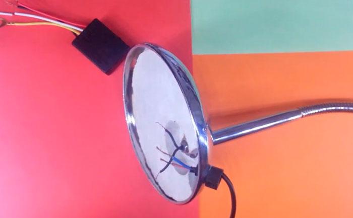 проводка внутри настольной лампы
