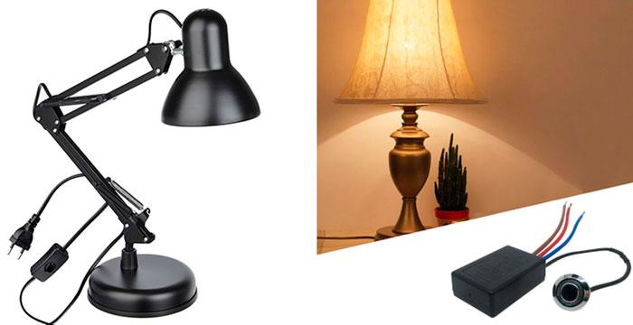 как сделать из обычной лампы сенсорную