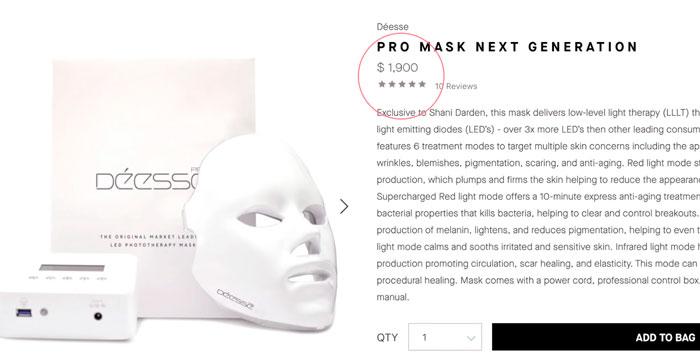 10самая дорогая LED маска для лица